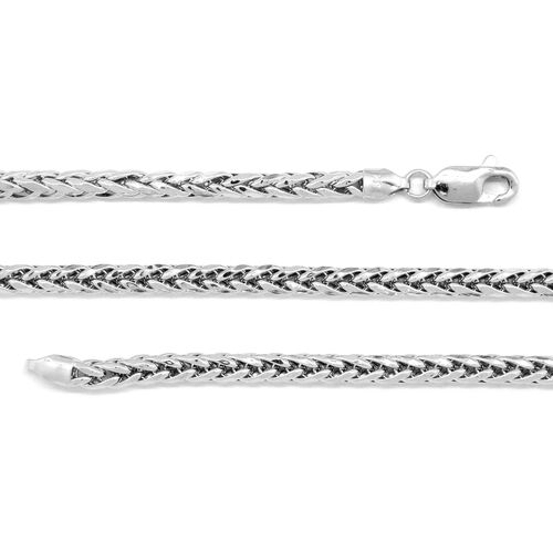 Vicenza Collection 9K White Gold Spiga Necklace (Size 20), Gold wt 8.65 Gms.