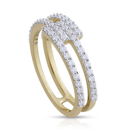 9K Y Gold SGL Certified Diamond (Rnd) (I3/G-H) Ring 0.500 Ct.
