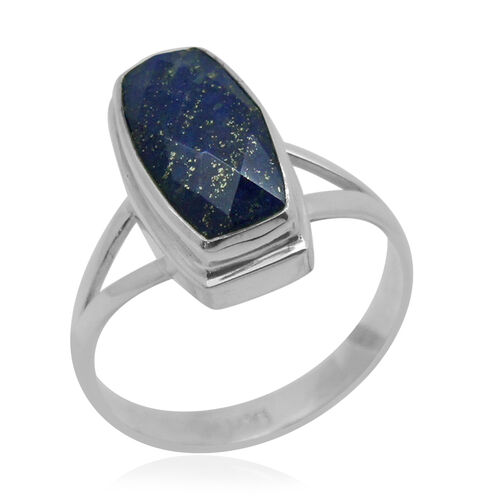 Royal Bali Collection Lapis Lazuli Ring in Sterling Silver 5.230 Ct.