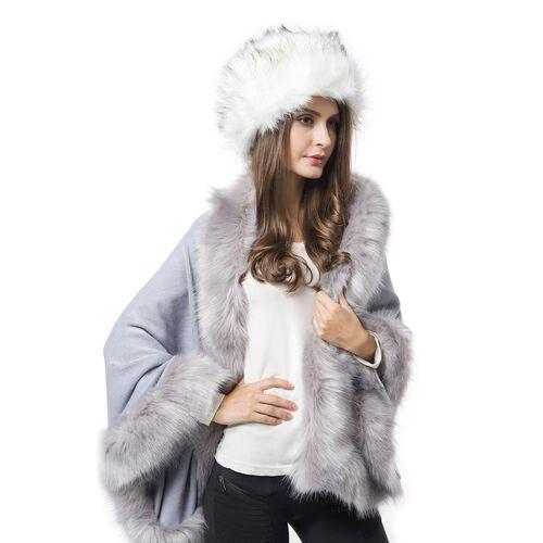 White Colour Faux Fur Cossack Hat (Size 20X13 Cm)