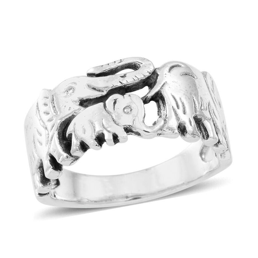 engagement victorian wildlife rings jewelry pattern solid elephant celtic with women silver walking elephants jewelora party ring world charity products of sterling for