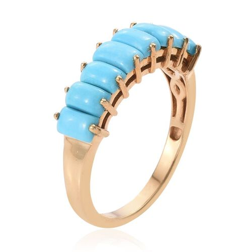 Arizona Sleeping Beauty Turquoise (Bgt) Ring in 14K Gold Overlay Sterling Silver 2.250 Ct.