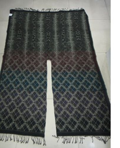 ITALIAN  Designer Inspired Jacquard Weave Black and Brown Open Front Poncho  (Size 125x175 Cm)