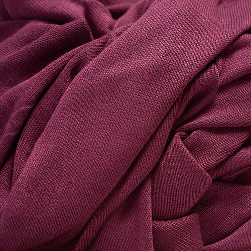 Burgundy Colour Cowl Neck Pattern Cardigan (Size Large / Xtra Large)