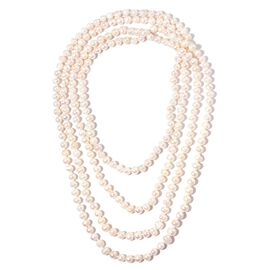 Limited Available -AAA Double Shine High Lustre Fresh Water White Pearl Necklace (Size 100)