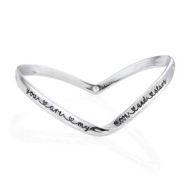 Kimberley A Wish From Me Collection Natural Cambodian Zircon (Rnd) Bangle (Size 7.5) in Platinum Overlay Sterling Silver, Silver Wt. 24.50 Gms.