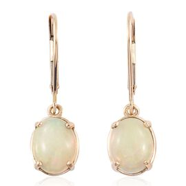 ILIANA 18K Yellow Gold 2.50 Carat AAA Ethiopian Welo Opal Lever Back Earrings