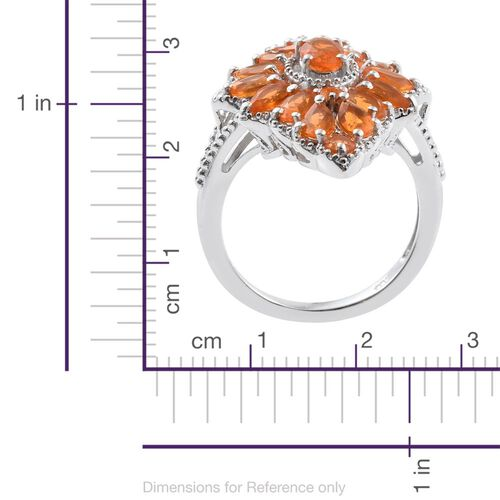 Jalisco Fire Opal (Ovl) Ring in Platinum Overlay Sterling Silver 2.360 Ct.
