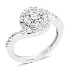9K White Gold SGL Certified Diamond (Rnd 0.20 Ct) (I3/G-H) Ring 0.500 Ct.