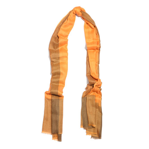 Limited Available - 100% Cashmere Burnt Orange Colour Scarf (Size 200x70 Cm)