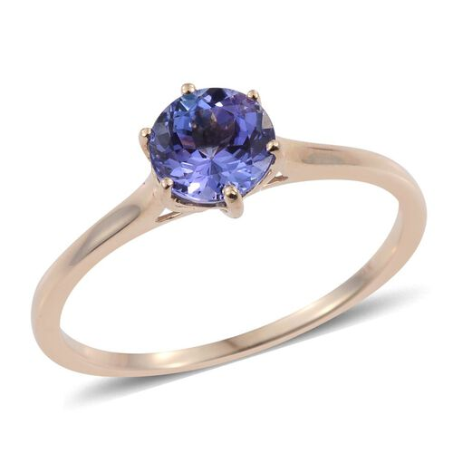 9K Y Gold Tanzanite (Rnd) Solitaire Ring 1.000 Ct.