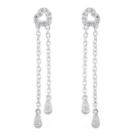 J Francis - Sterling Silver (Rnd) Heart Earrings (with Push Back) Made with SWAROVSKI ZIRCONIA