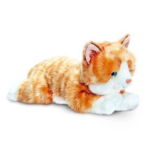 Keel Toys - Ginger, White and Multi Colour Kitten (30 Cm)