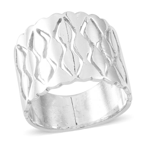 Thai Sterling Silver Band Ring, Silver wt 7.52 Gms.