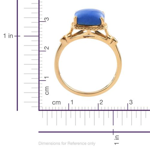 Ceruleite (Cush), Diamond Ring in 14K Gold Overlay Sterling Silver 4.050 Ct.
