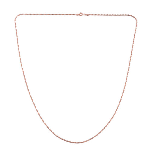 Vicenza Collection - Rose Gold Overlay Sterling Silver Rope Chain (Size 24), Silver wt 3.00 Gms.