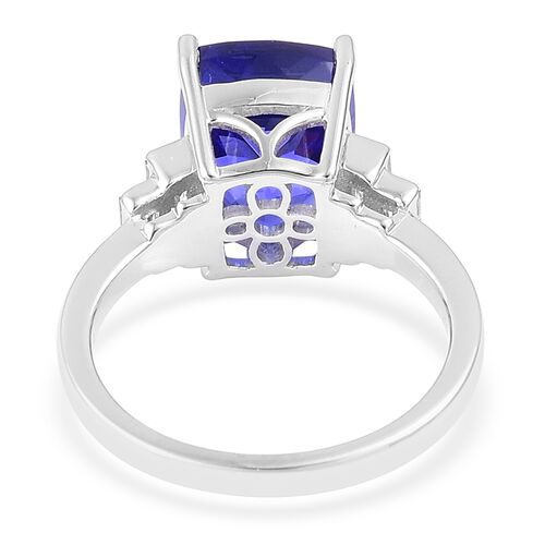 RHAPSODY 6 Carat AAAA Tanzanite and Diamond Wedding Ring