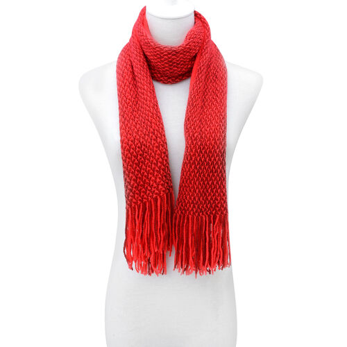 Red Colour Scarf (Size 150x35 Cm)