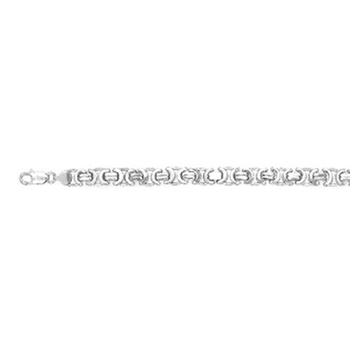 Thai Sterling Silver Rhodium Plated Fancy Link Bracelet (Size 7.5), Silver wt. 14.96 Gms.