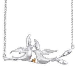 Kimberley Come Fly With Me Collection Platinum and Yellow Gold Overlay Sterling Silver Necklace (Size 18), Silver wt 11.25 Gms.