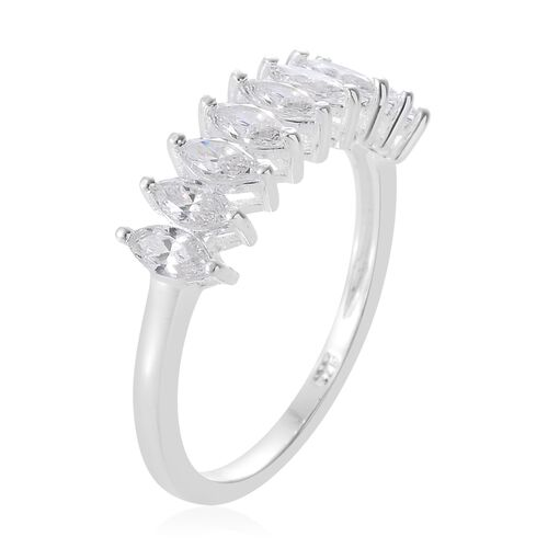 J Francis - Sterling Silver (Mrq) Ring Made with SWAROVSKI ZIRCONIA