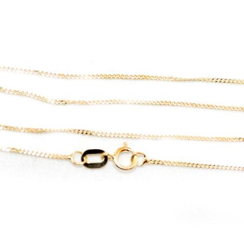 Italian Designer 9K Y Gold Diamond Cut Curb Chain (Size 18)