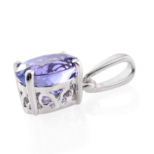 ILIANA 18K White Gold 1.25 Ct AAA Tanzanite Solitaire Pendant