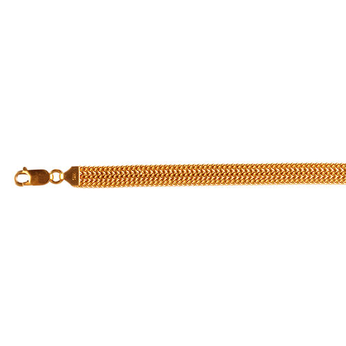 Limited Available- 9K Yellow Gold Bismark Bracelet (Size 8), Gold wt 6.58 Gms.