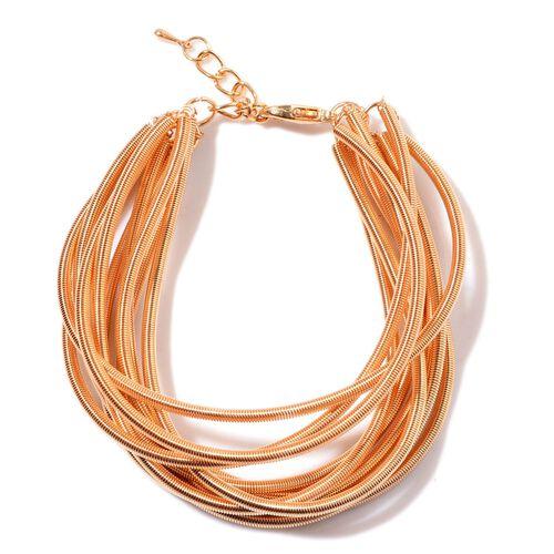 Multi Strand Bracelet (Size 7.5) in Gold Tone