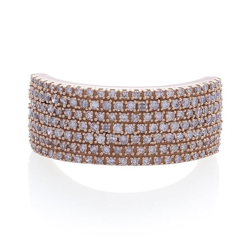ILIANA 18K R Gold Natural Pink Diamond (Rnd) Ring 1.000 Ct.Gold Wt 8.00 Gms