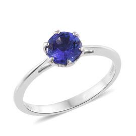RHAPSODY 950 Platinum AAAA Tanzanite (Rnd) Solitaire Ring 1.500 Ct.