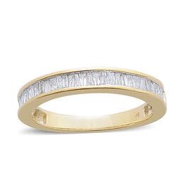 9K Y Gold Diamond (Bgt) Half Eternity Band Ring 0.500 Ct.
