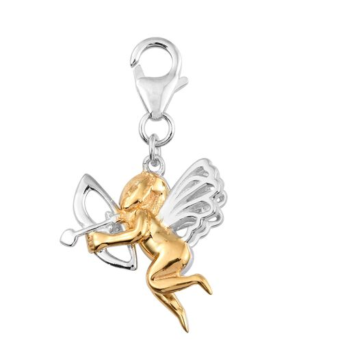 Love Cupid Charm in Platinum and Gold Plated 925 Sterling Silver