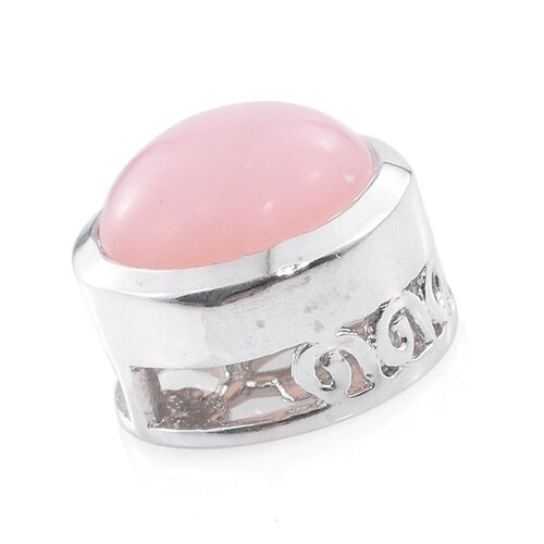 Natural Peruvian Pink Opal (Rnd) Solitaire Pendant in Platinum Overlay Sterling Silver 1.500 Ct.
