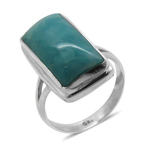 Royal Bali Collection Larimar (Bgt) Solitaire Ring in Sterling Silver 8.970 Ct.