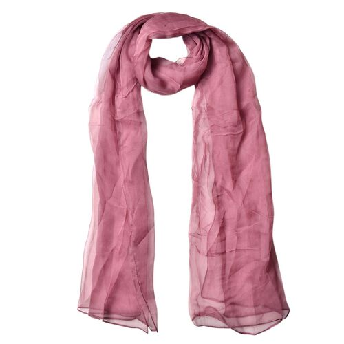 100% Mulberry Silk Cameo Brown Colour Scarf (Size 170X70 Cm)