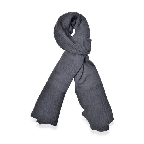 Grey Colour Pull Through Scarf (Size 150x60 Cm)