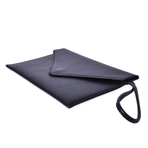 New Season YUAN COLLECTION Classic Black Envelope Clutch / Travel Pouch (Size 25.5x17 Cm)