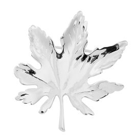 Vicenza Collection- Designer Inspired Sterling Silver Maple Leaf Pendant Or Brooch, Silver wt 8.30 Gms.