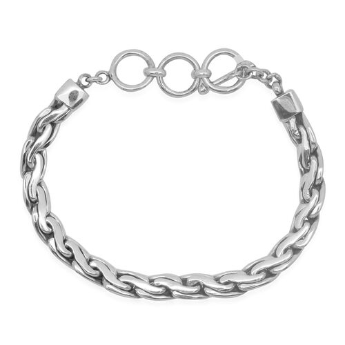 Royal Bali Collection Sterling Silver Bracelet (Size 7.5 to 8.5), Silver wt 31.21 Gms.