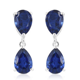Colour Change Alexandrite Quartz (Pear) Earrings (with Push Back) in Sterling Silver 7.750 Ct.