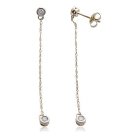 Constellation 9K Yellow Gold SGL Certified Diamond (I3/G-H) Earrings (with Push Back) 0.250 Ct.