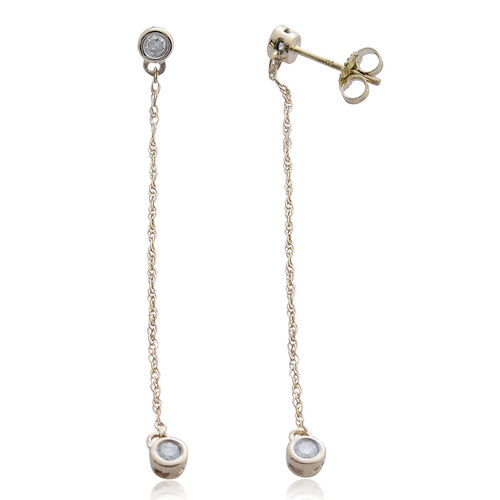 Constellation 9K Yellow Gold 0.25 Ct Diamond Earrings (with Push Back) SGL Certified (I3/G-H)