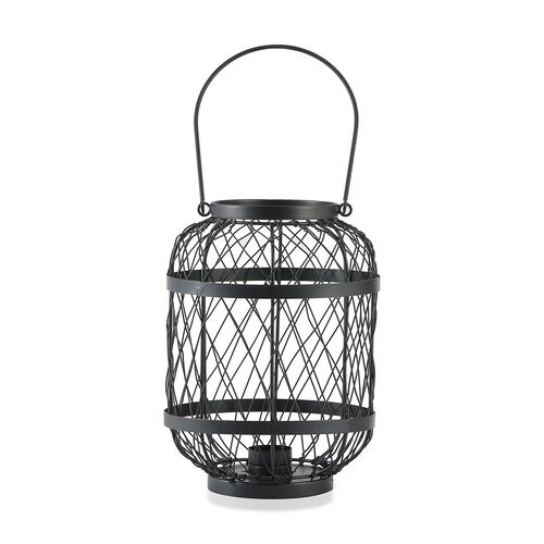 Home Decor - Handicraft Lantern Made of Black Wire