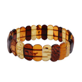 Tucson Collection Baltic Amber Stretchable Bracelet (Size 7) 40.000 Ct.