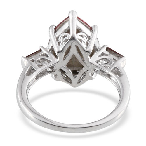 Crystal from Swarovski - Light Siam Crystal (Pear) Ring in Platinum Overlay Sterling Silver