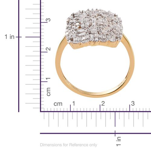 Diamond 14K Gold Overlay Sterling Silver Ring  1.000  Ct.