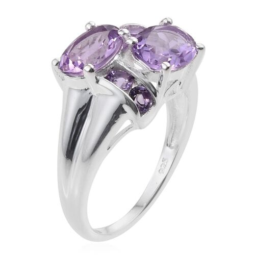 Rose De France Amethyst (Ovl), Amethyst Ring in Sterling Silver 2.250 Ct.