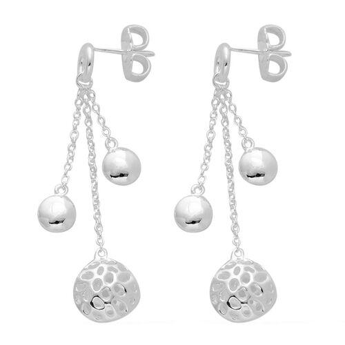 RACHEL GALLEY Sterling Silver Globe Drop Earrings (with Push Back), Silver wt 7.20 Gms.