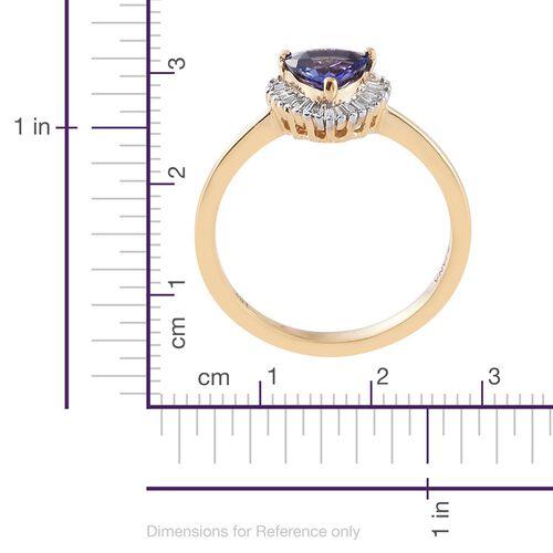 ILIANA 18K Y Gold AAA Tanzanite (Trl), Diamond (SI/G-H) Ring 1.000 Ct.